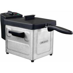 1.5 L Professional-Style Stainless Steel Deep Fryer with Bas