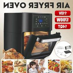 14 Qt Digital Air Fryer Oven with Rotisserie, Dehydrator, Co