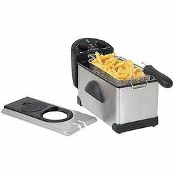 1500W 3.0 L Electric Deep Fryer Stainless Steel  Adjustable