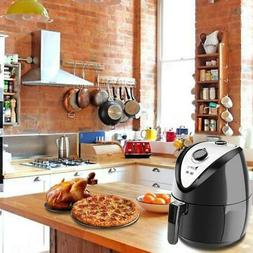 1500W LCD Electric Air Fryer W/ 8 Cooking Presets, Temperatu
