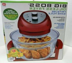 16 qt. convention countertop oil-less oven in red | big boss
