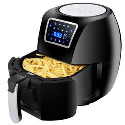 6.3Qt Extra Large Deep Air Fryer LCD Display Temperature Con