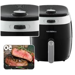 GoWISE USA 3.7-QT Dial Control Air Fryers + 50 Recipes for y