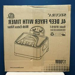SECURA 4L Deep Fryer with Timer Model DF401B-T 1700W NEW IN