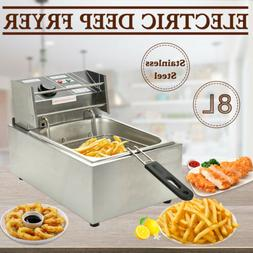 8L Commercial Electric Deep Fryer Countertop Basket French F