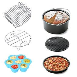 Air Fryer Accessories 6pcs for Gowise Phillips and Cozyna, f