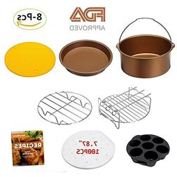 8 inch Air Fryer Accessories Set of 8 for Phillips Cozyna an
