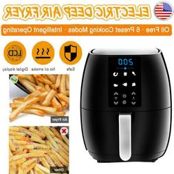 Air Fryer for Low Fat Cooking Timer and Fully Adjustable Tem