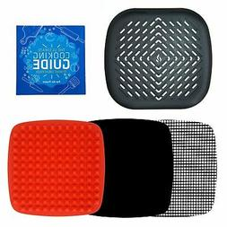 Air Fryer Grill Pan Accessories + Baking Mats for Chefman Co