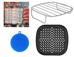 Air Fryer Rack and Grill Pan Accessories Compatible with NuW