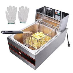 6L 2500W Electric Deep Fryer Commercial Countertop Tabletop