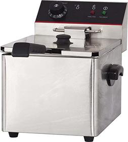 Hakka 6L Commercial Stainless Steel Deep Fryers Electric Pro