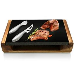 Cooking Lava Stone Grill Platter - Grilling Cook Stones Slab