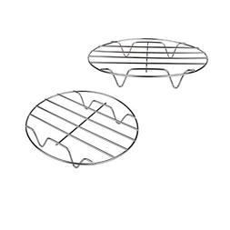 T&B 2Pcs 7 Inch Air Fryer Rack Cooking Steaming Cooling Mult