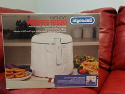 Delonghi Cool & Touch Deep Fryer 2.2 lb Oil Drain White - NE