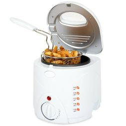 Classic Cuisine Cool Touch Small 1 Liter Deep Fryer with Wir