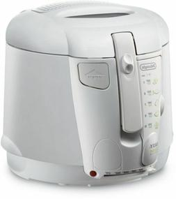 DeLonghi Cool-Touch Deluxe Deep Fryer in White with Extra Wi