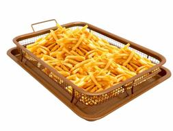 Gotham Steel Copper Crisper Tray - AIR FRY IN YOUR OVEN - As