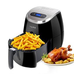 WeW Electric Digital Air fryer 3.7 Quarts with LED Touch Dis