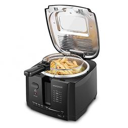 Flexzion Deep Fryer with Basket - Home Electric Deep Fat Fry