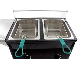 Hunslow Outdoor Deep Fryer Two Tank Portable works with Prop