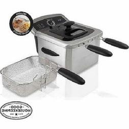 Farberware 4L Dual Deep Fryer with 3 Fryer Baskets, Stainles