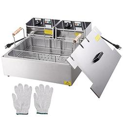Yescom 5000W 20L Electric Countertop Stainless Steel Deep Fr