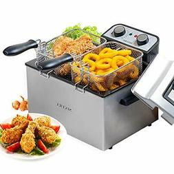 Secura Electric Deep Fryer 1800W Large Stainless Steel with