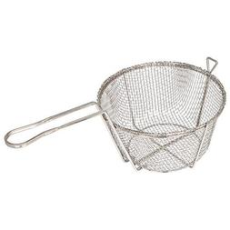 Winco FBR-9, 9-Inch 4-Mesh Round Wire Fry Basket with Handle