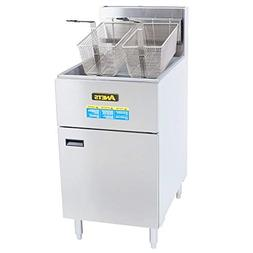 Anets SLG100 70-100 lb. Natural Gas SilverLine Fryer - 150,0