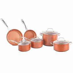 NuWave Forged Non-Stick 10-Piece Stainless Steel Cookware Se