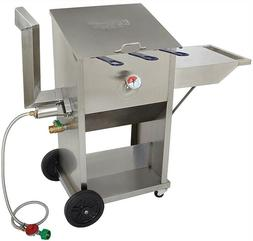 Bayou Classic Outdoor 9 gal. Bayou Fryer with Cart