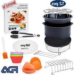 7 inch General Air Fryer Accessories 11 pcs with Recipe Cook