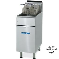Imperial IFS-40 Floor Model Gas Fryer with 40 lb Capacity