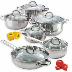 Induction Cookware Set Cooking Pan and Pots Nuwave Cooktop R