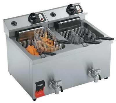 40710 electric counter top fryer 23 x