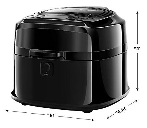 Chefman Liter/6.8 Quart Function For The Fried Programmable Air Roaster Exterior, Rack & 1200W,