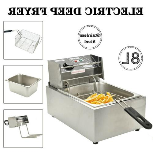 8L Commercial Electric Fryer French Fry Restaurant Home
