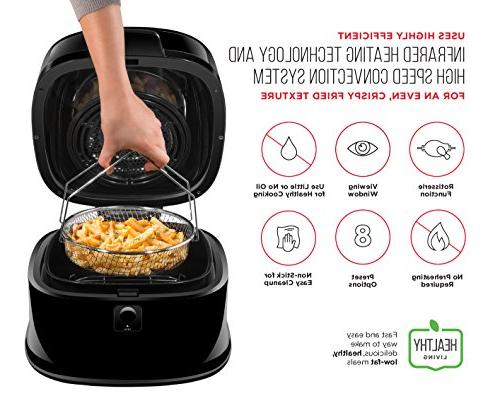 Chefman 6.5 Air Function The Fried Programmable Air Roaster Cool-Touch Exterior, BPA & Frying Pan