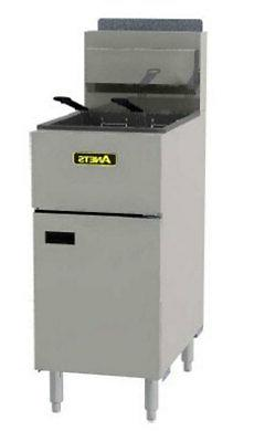 Anets SLG50 Silverline 50lb Gas Fryer Stainless Commercial 1