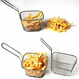 Stainless Steel Mini French Deep Fryers Hollow Basket Net Me