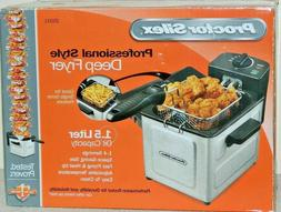 NEW PROCTOR SILEX PROFESSIONAL STYLE ELECTRIC DEEP FRYER 350
