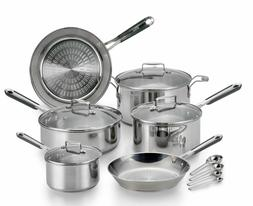 T-fal PerformaPro 14-Piece Stainless Steel Cookware Set