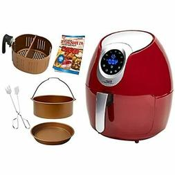 Power Air Fryer XL 3.4 QT Deluxe Red Kitchen &amp Dining