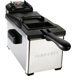 Chefman Deep Fryer 3.7 Quarts, Stainless-steel with Rotary K