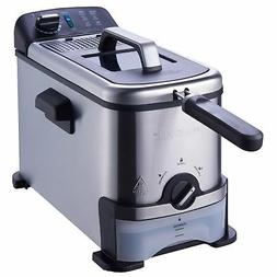 Stainless Steel Deep Fryer 3 Liter with Oil Filtration Syste
