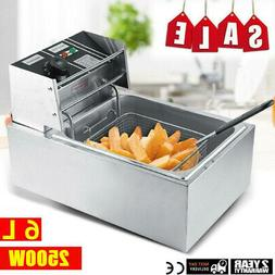 Stainless Steel Electric Deep Fryer Home Commercial Restaura