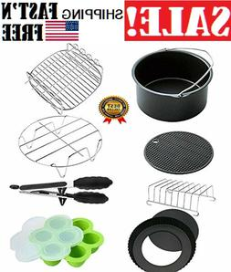 XL Air Fryer Accessories 8 Inch for Set of 8, Fit all 5.3QT
